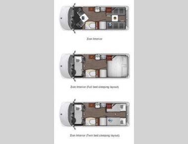 Floorplan - 2016 Roadtrek Zion Zion