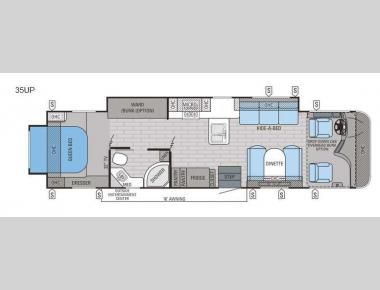 Floorplan - 2016 Jayco Precept 35UP