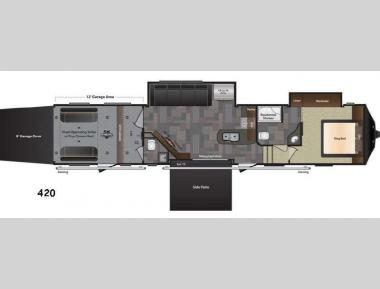 Floorplan - 2016 Keystone RV Fuzion 420