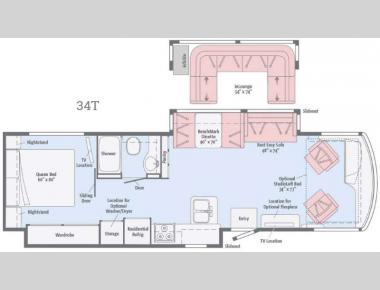 Floorplan - 2016 Winnebago Forza 34T