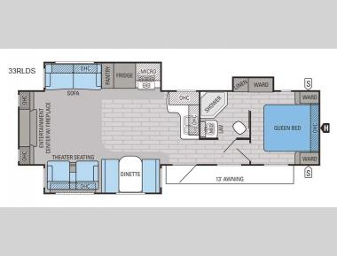 Floorplan - 2016 Jayco Jay Flight 33RLDS