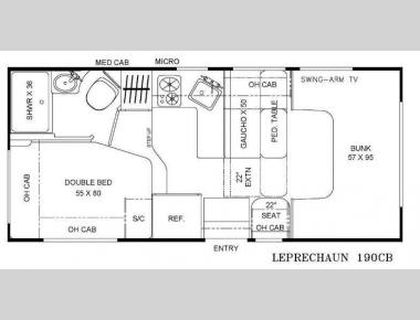 Floorplan - 2015 Coachmen RV Leprechaun 190CB Ford 350
