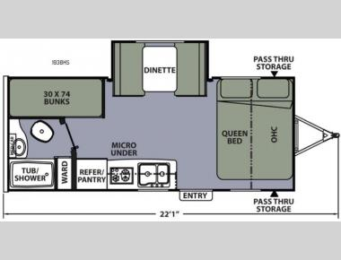 Floorplan - 2016 Coachmen RV Apex Nano 193BHS