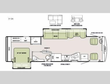Floorplan - 2016 Tiffin Motorhomes Allegro 31 SA