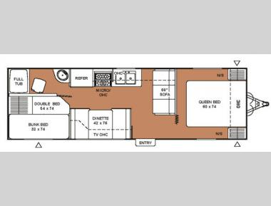 Floorplan - 2007 Coachmen RV Spirit of America 26DBD