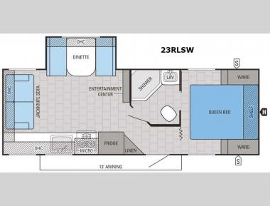 Floorplan - 2016 Jayco Jay Feather 23RLSW