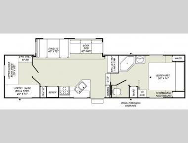 Floorplan - 2007 Fleetwood RV Wilderness 315BHS