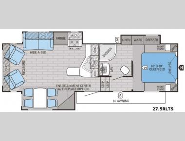Floorplan - 2016 Jayco Eagle HT 27.5RLTS