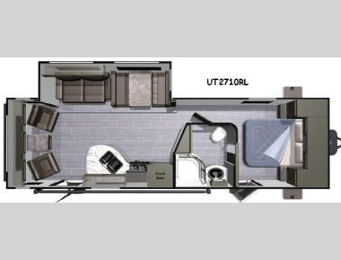 Floorplan - 2016 Highland Ridge RV Open Range Ultra Lite UT2710RL