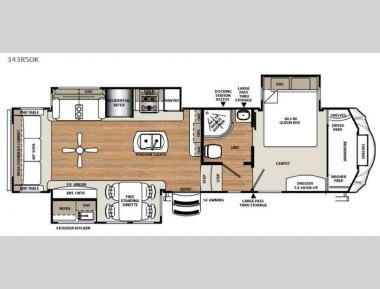 Floorplan - 2016 Forest River RV Sierra 343RSOK