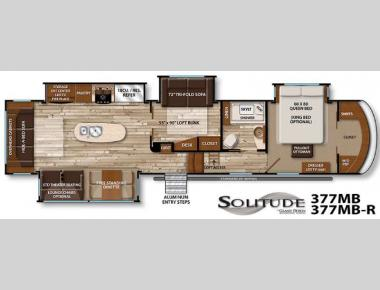 Floorplan - 2016 Grand Design Solitude 377MB