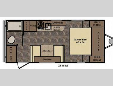 Floorplan - 2016 CrossRoads RV Z1 Lite ZT18RB