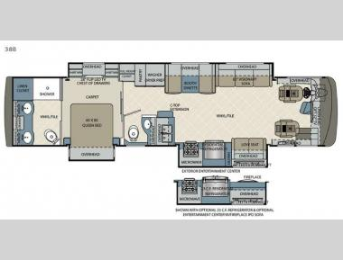 Floorplan - 2016 Forest River RV Berkshire 38B
