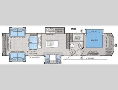 Floorplan - 2016 Jayco Designer 39RE