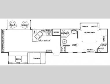 Floorplan - 2007 Forest River RV Cedar Creek 34SATS