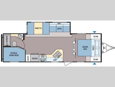 Floorplan - 2016 Dutchmen RV Coleman Lantern Series 262BH