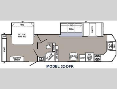 Floorplan - 2016 Palomino Puma Destination 32-DFK