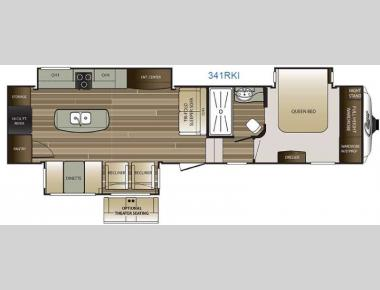 Floorplan - 2016 Keystone RV Cougar 341RKI
