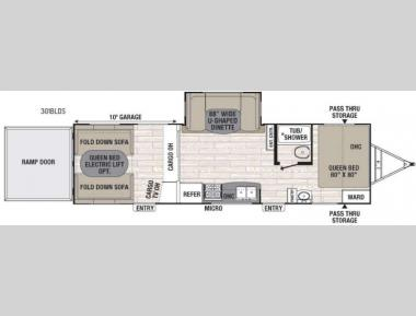 Floorplan - 2017 Coachmen RV Freedom Express Blast 301BLDS