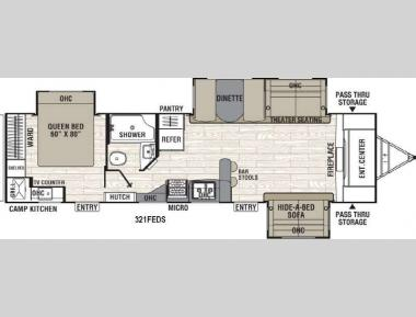 Floorplan - 2017 Coachmen RV Freedom Express 321FEDS