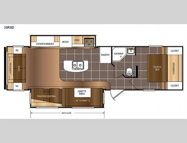 Floorplan - 2017 Prime Time RV Avenger 33RSD