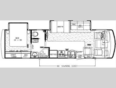 Floorplan - 2007 Newmar Bay Star 3201