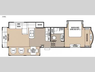 Floorplan - 2017 Forest River RV Cedar Creek Hathaway Edition 34RE