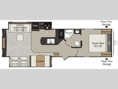 Floorplan - 2017 Keystone RV Passport 31RE Elite