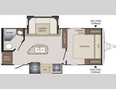 Floorplan - 2017 Keystone RV Bullet 220RBI
