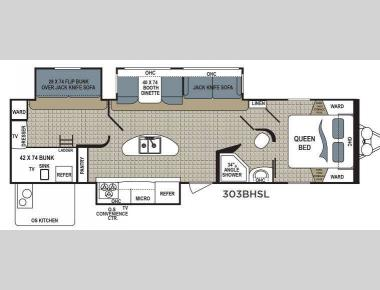 Floorplan - 2017 Dutchmen RV Kodiak Express 303BHSL