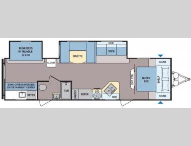 Floorplan - 2017 Dutchmen RV Coleman Lantern Series 314BH