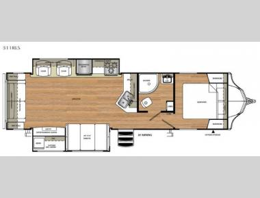 Floorplan - 2017 Forest River RV Vibe 311RLS