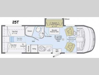 Floorplan - 2017 Winnebago Via 25T
