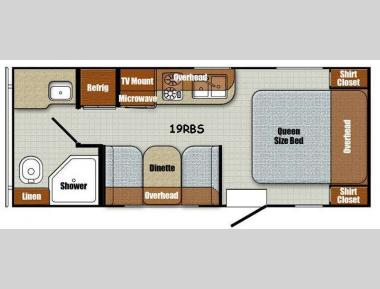 Floorplan - 2017 Gulf Stream RV Vintage Friendship 19RBS