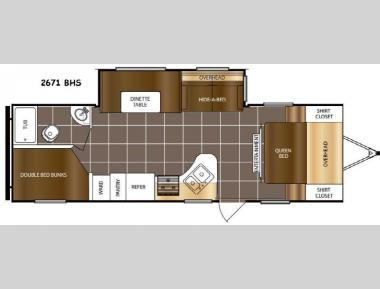 Floorplan - 2017 Prime Time RV Tracer 2671BHS