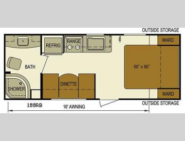 Floorplan - 2016 Skyline Nomad Dart 188RB