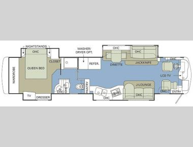 Floorplan - 2007 Holiday Rambler Navigator 45PBQ