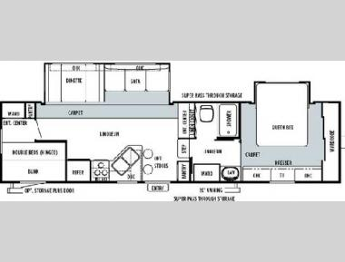 Floorplan - 2004 Forest River RV Sandpiper 29 BHBS