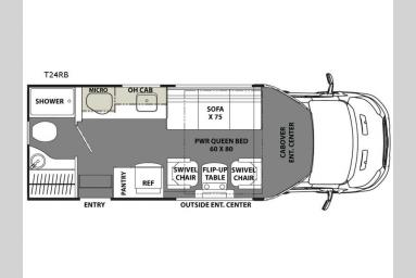Floorplan - 2017 Coachmen RV Orion T24RB