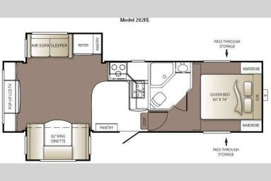 Floorplan - 2011 Keystone RV Outback 282FE