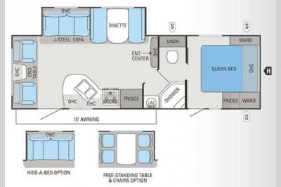 Floorplan - 2012 Jayco White Hawk 27DSRL