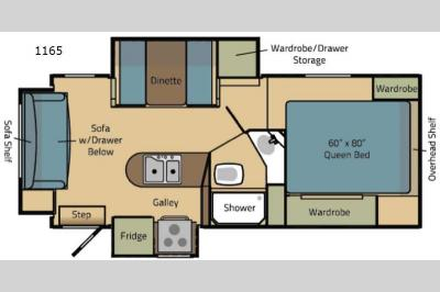 Floorplan - 2017 Adventurer LP (ALP) Eagle Cap Truck Camper 1165