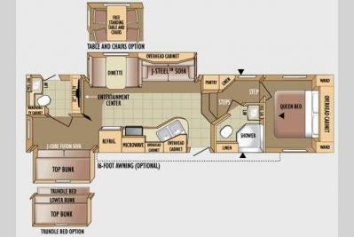 Floorplan - 2010 Jayco Eagle Super Lite 30.5DBSA