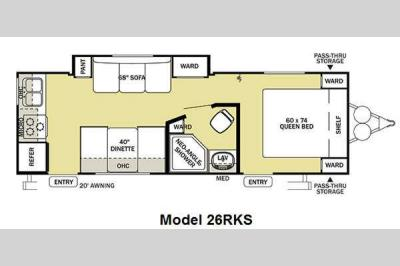 Floorplan - 2011 Forest River RV Salem Cruise Lite 26RKS