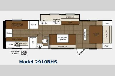 Floorplan - 2012 Prime Time Manufacturing Tracer 2910BHS