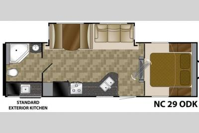 Floorplan - 2012 Heartland North Country 29ODK