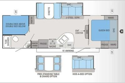 Floorplan - 2013 Jayco White Hawk 28DSBH