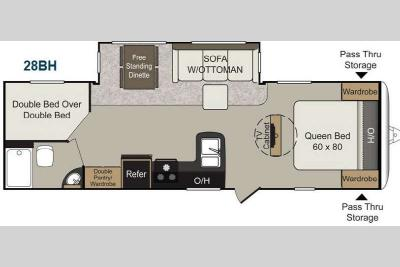 Floorplan - 2013 Keystone RV Passport 28BH Elite