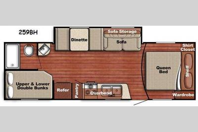 Floorplan - 2014 Gulf Stream RV Conquest Lite 259BH
