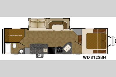 Floorplan - 2016 Heartland Wilderness 3125BH